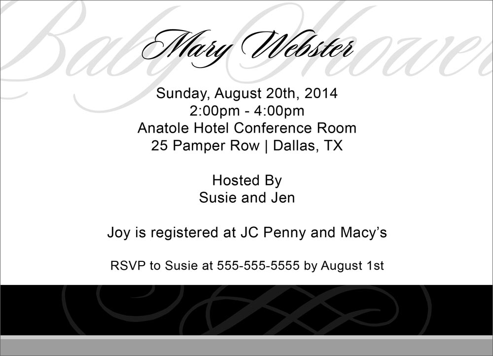 Scroll Baby Shower Invitations and get inspiration to create nice invitation ideas