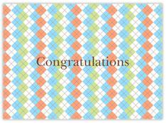 Baby Plaid Congrats