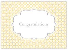 Yellow Baby Scroll Congrats
