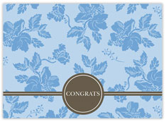 Blue Floral Congrats