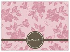 Pink Floral Congrats