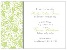 Baby Greens Invitation
