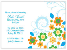 Funky Flowers Invitation