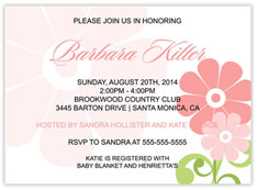 Mixed Daisies Girl Invite