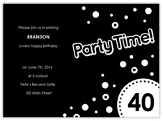 Black Party Time!