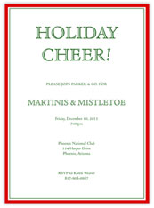 Holiday Red Invitation