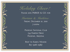 Khaki Reindeer Invitation