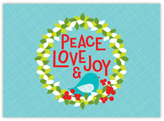 Peace Love Joy Wreath