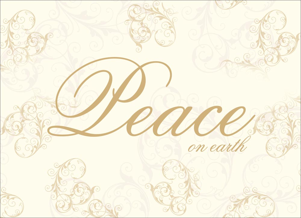 Elegant Peace on Earth - Christmas Cards from CardsDirect