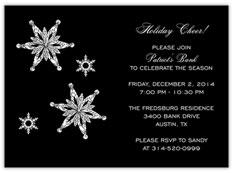 Falling Snowflakes Invitation