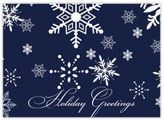 Navy Snowflake Greetings