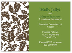 Forest Holly Invitation