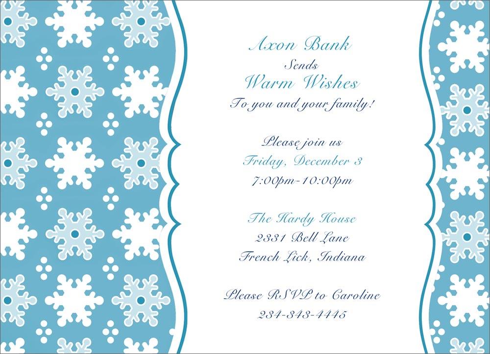 Snowflake Party Invitations – Snowflake Party Invitations