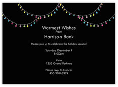 Christmas Light Black Invite