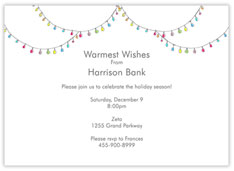 Christmas Light White Invite