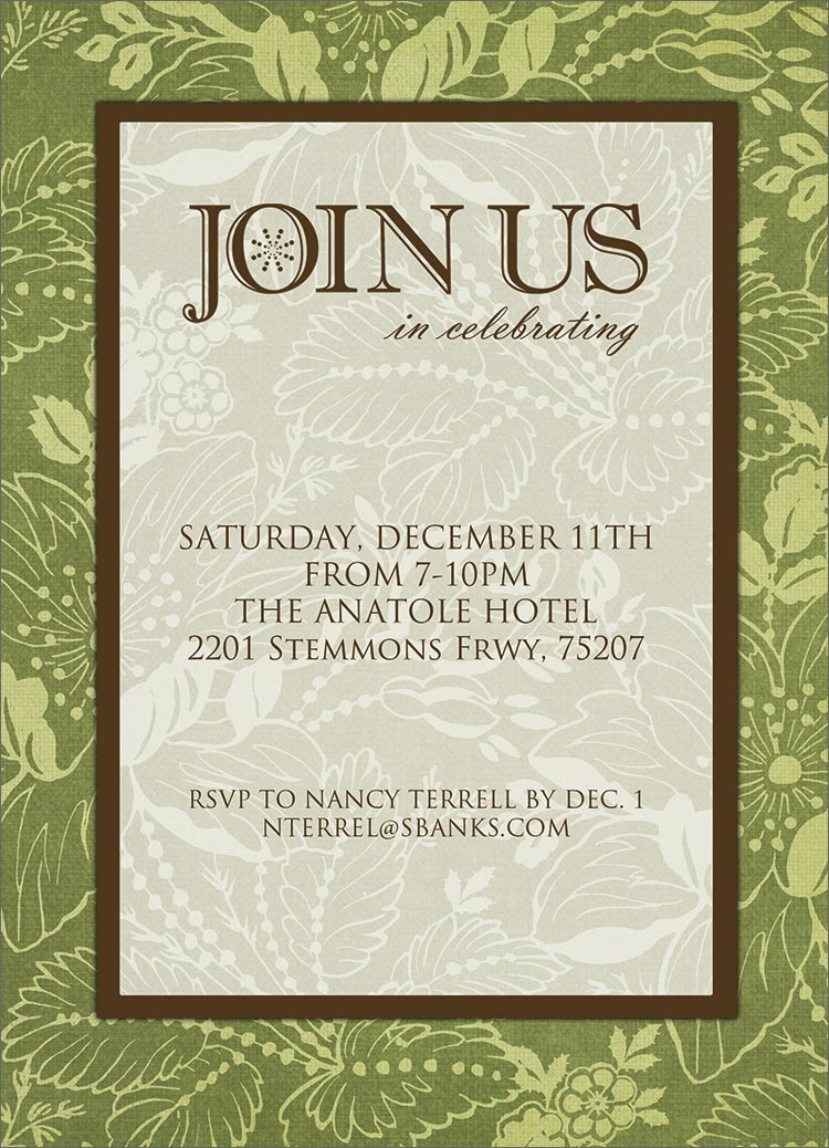 Join Us Formal Invitation - Holiday Party Invitations from CardsDirect