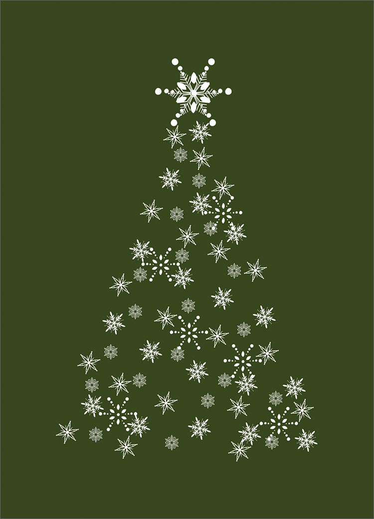 Snowflake christmas tree cards from cardsdirect