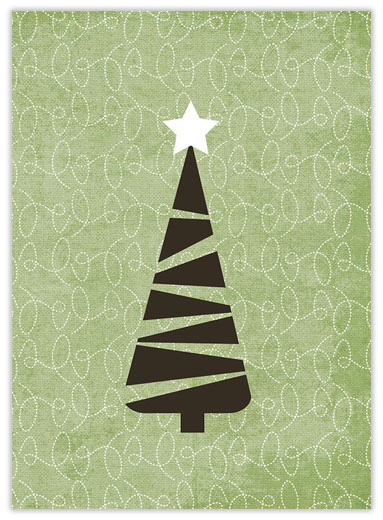 Tree and Squiggles - Christmas Trees from CardsDirect