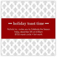 Fleur de Lis Holiday Invitation