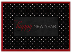 Traditional Red & Black New Year's Card