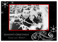 Swirling Snowflake Photo Card