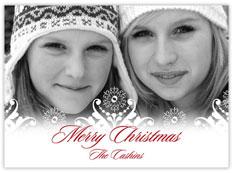 Filigree of Snow Photo Card