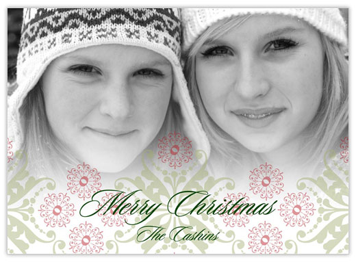Intricate Holiday Overlay - Photo Christmas Cards from CardsDirect