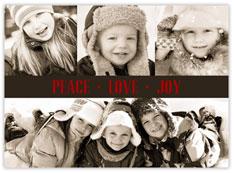 Peace Love & Joy Bar Card