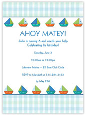 Ahoy Matey Invitation