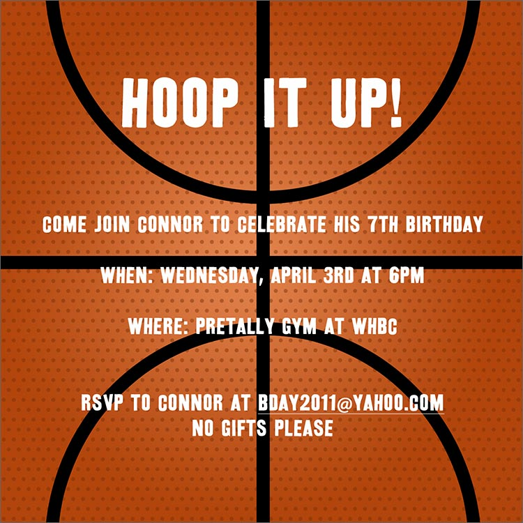 Basketball Invitation - Birthday Invitations from CardsDirect