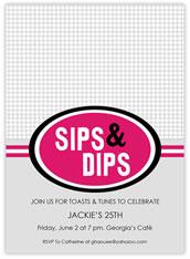 Pink & Grey Sips & Dips