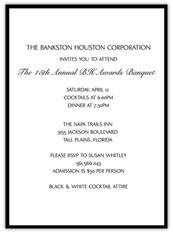 Black Banquet Invitation