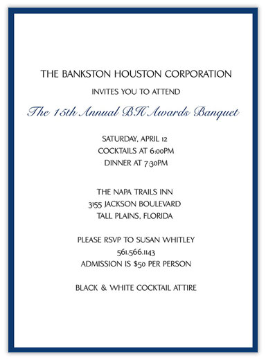 /Announcements > Business Announcements > Blue Banquet Invitation