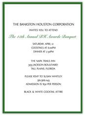 Green  Banquet Invitation