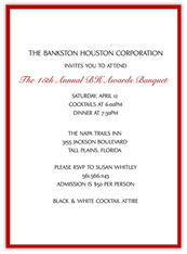 Red  Banquet Invitation