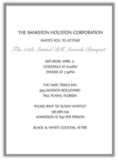 Grey  Banquet Invitation