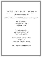 Grey  Banquet Invitation