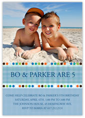 Birthday Dots Photo Invite