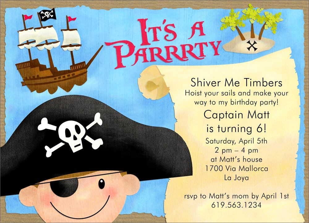 Pirate Party Invitation Wording for great invitations template