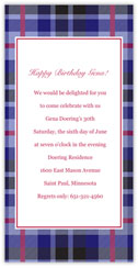 Grape Plaid Invitation