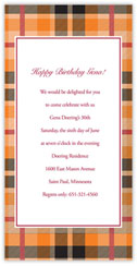 Orange Plaid Invitation