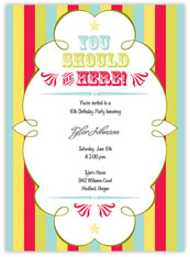 Circus Theme Invitation