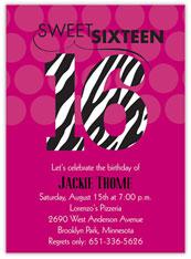 Pink Zebra Sweet 16
