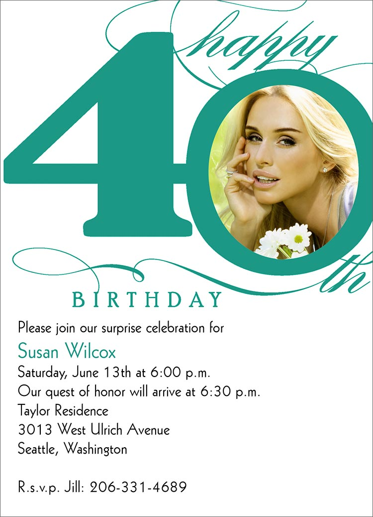 40th birthday invitation card 28 images 40th birthday 40th birthday invitation card filmwisefo