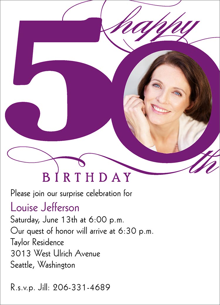 ... Invites/Announcements > Birthday Invitations > 50th Milestone Birthday