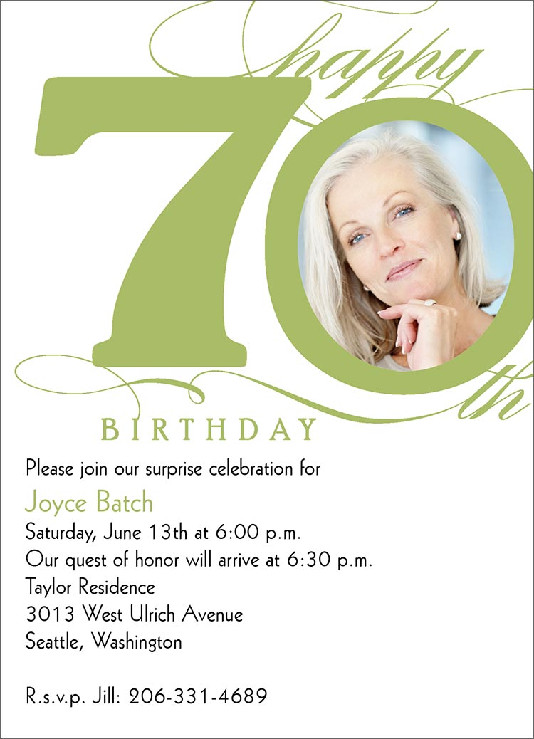 40th Birthday Ideas Invitation Templates 70th