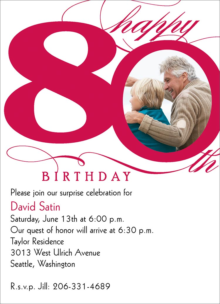 Eightieth Birthday Invitations for great invitations example