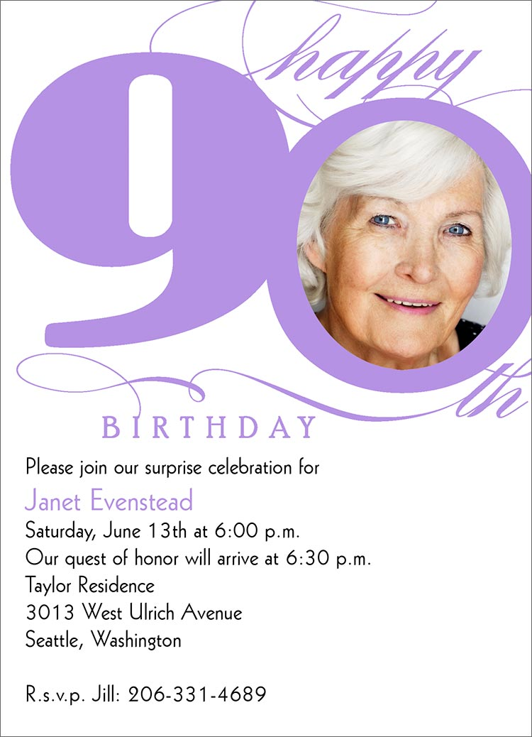 Invitations For 90th Birthday Party For Mom | Party Invitations Ideas