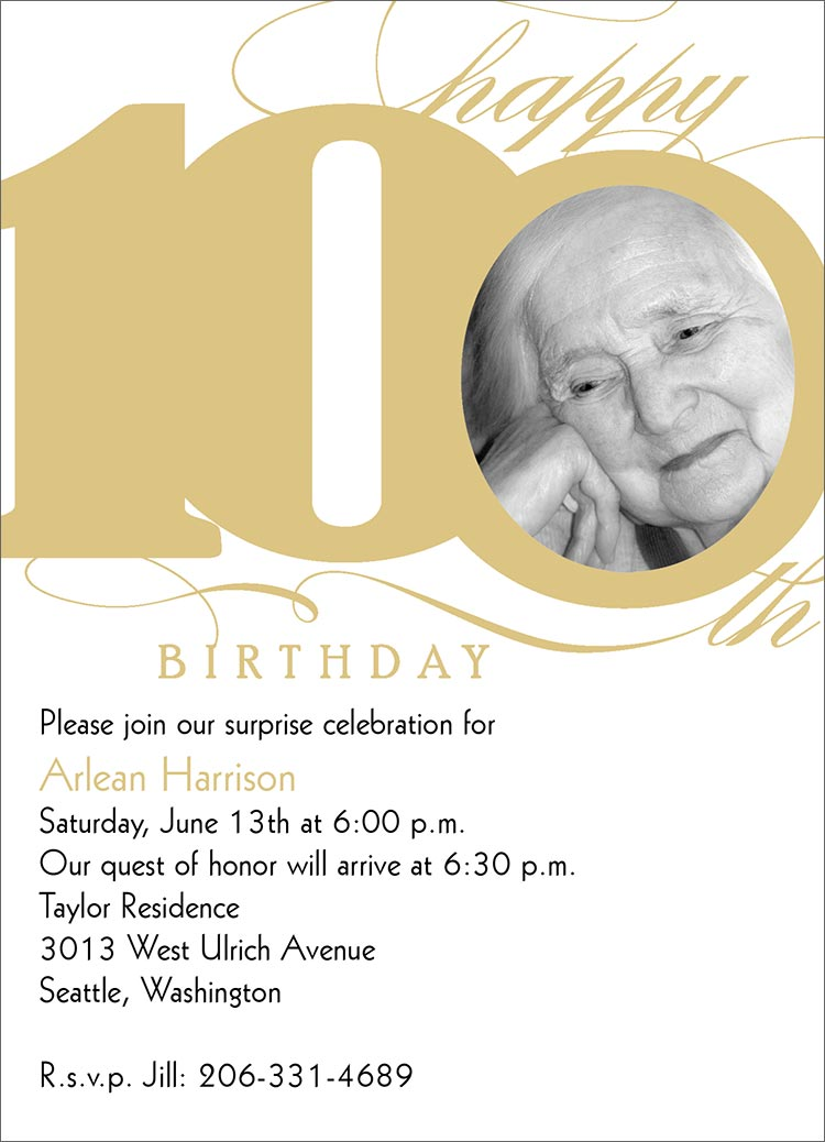 100Th Birthday Invitations and get inspiration to create nice invitation ideas