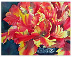 Watercolor Floral Arrangement